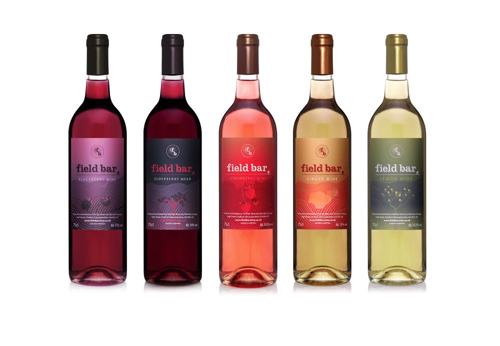 Take a look at our brand identity design project for Field Bar Wines