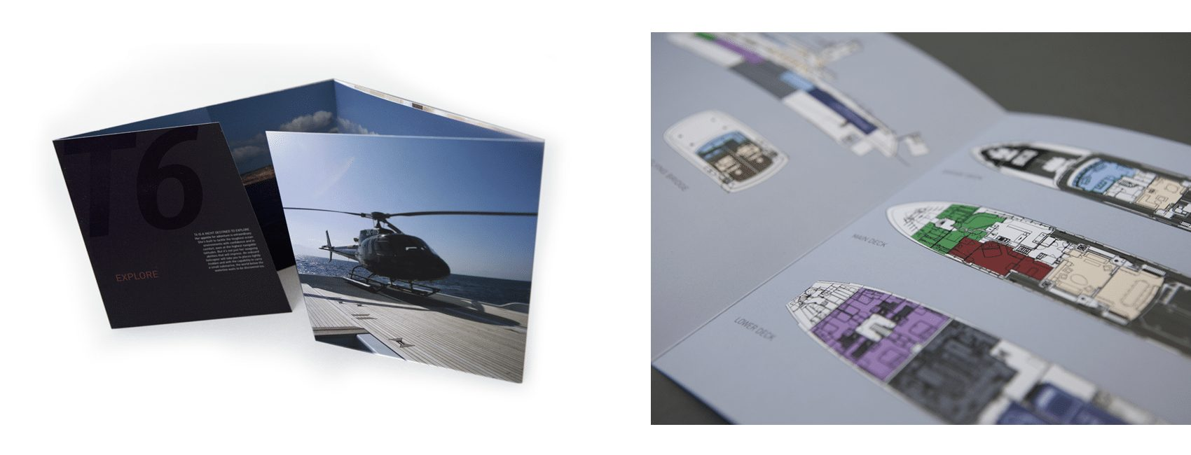 Take a look at our brochure design project for Burgess superyachts