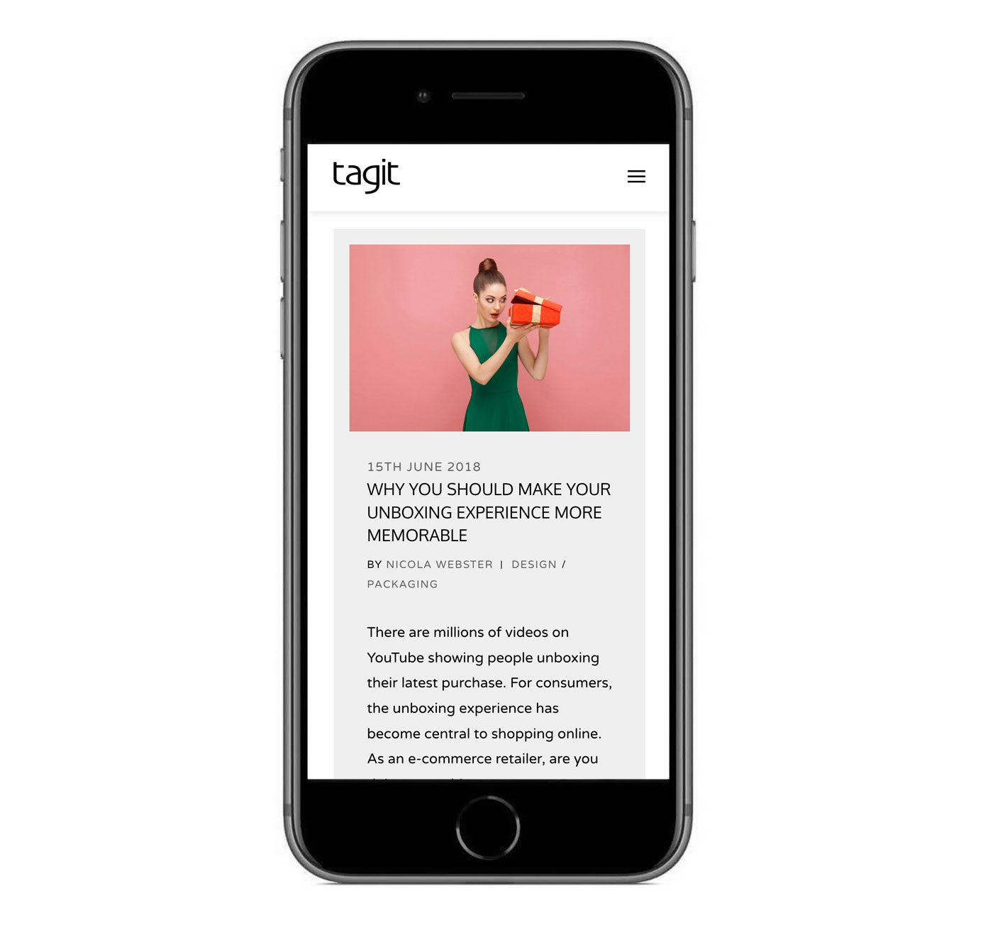 Take a look at our Tagit website content writing and design project