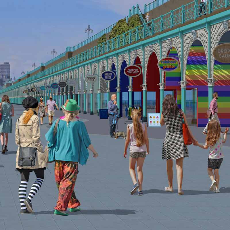 Our Brighton design project for the Save Madeira Terrace campaign